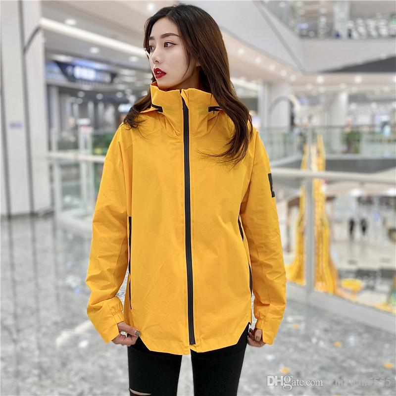 696 155 Spring dress trench coat large size hooded trench coat solid color pocket button light raincoat coat EEEEE36