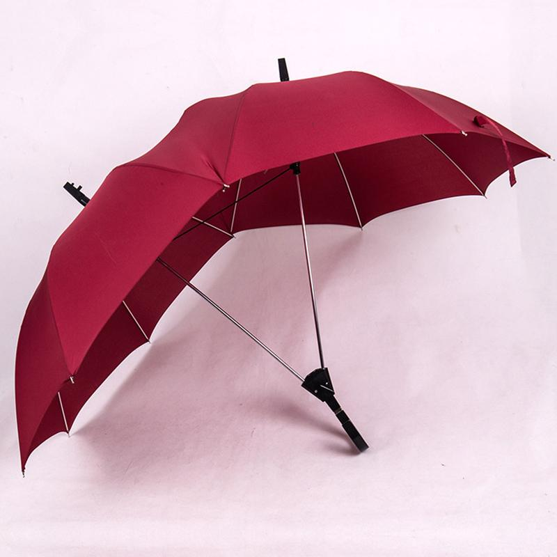 6002d41706b7 New automatic double sun umbrellas double pole long handle creative couple  ladies golf business gift umbrella sale