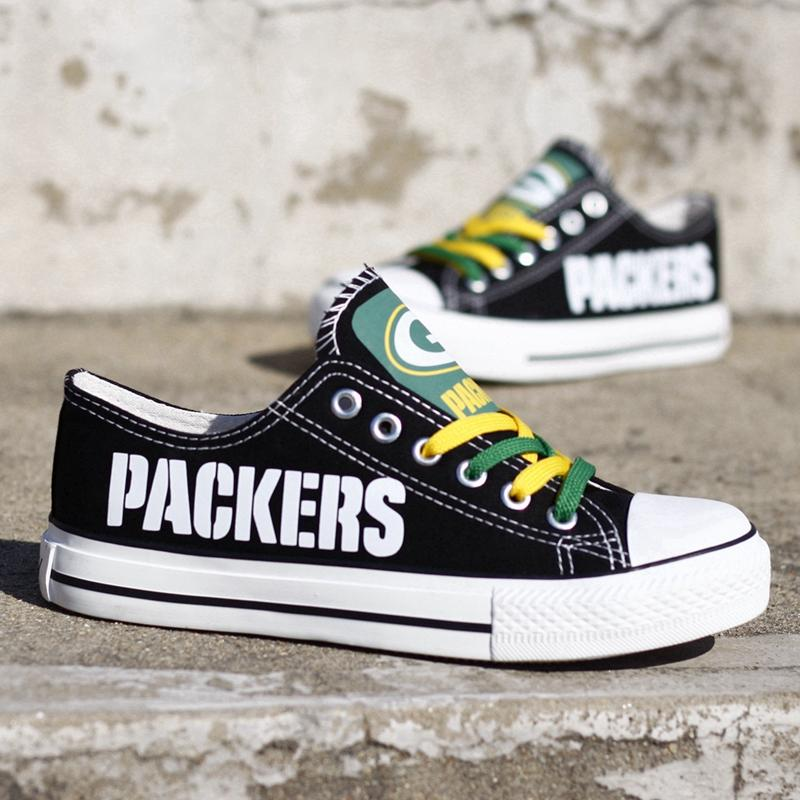 c6504260 USA Wisconsin State Green Bay City Print Low Top Casual Canvas Shoes Custom  Design American Football Trainers Espadrille Calzado