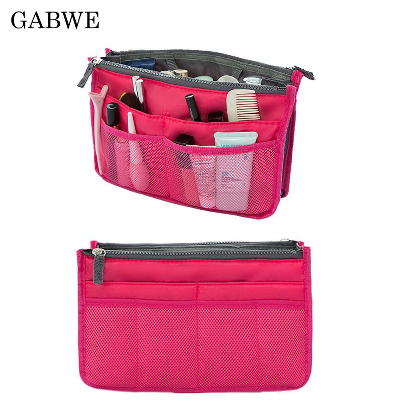 b9a84f41ad 2019 GABWE Fashion Organizer Compact Portable Make Up Cases Women Makeup Bag  Girls Cosmetic Bag Case Toiletry Travel Kits Storage From Ajshoesfactory