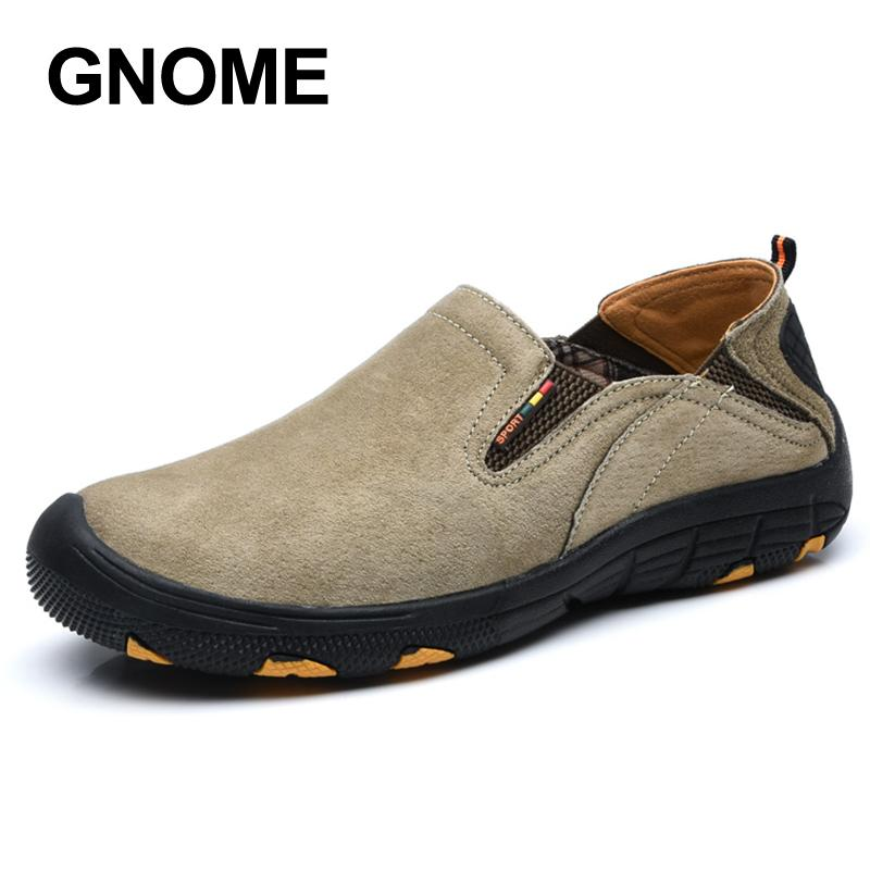 540e92bb568 Gnome Big Size 48 Men Casual Leather Shoes Slip On Loafers Mens ...