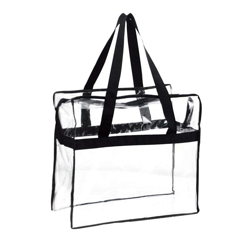 1fe29fa5179f Tote Bag, Sturdy PVC Construction Zippered Top,Stadium Security Travel &  Gym Clear Bag, Perfect for Work, School, Sports Games