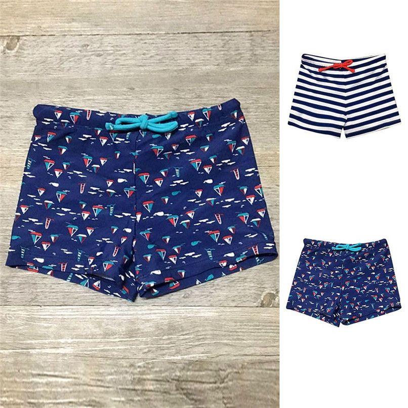 598a5fb0bb9 Summer Boy Shorts Kids Children Baby Boys Striped Print Stretch Shorts  Beach Swimsuit Swimwear Baby Boys Clothes M8Y24 Short Boy Shorts Shorts  Baby Girl ...