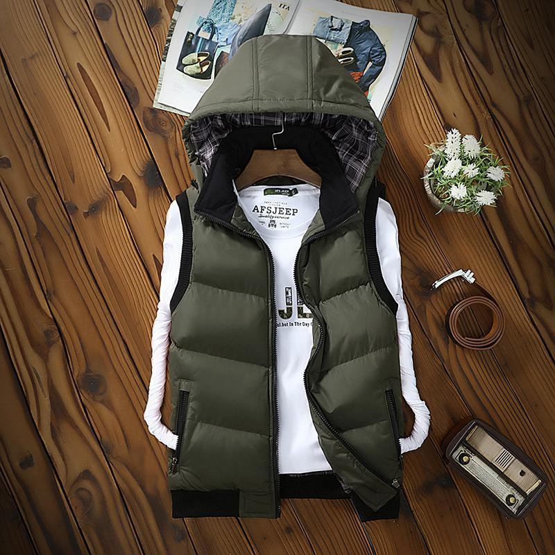 9bd24766bbb 2018 Autumn Winter Vest Men Sleeveless Jackets Male Vests Chaleco ...