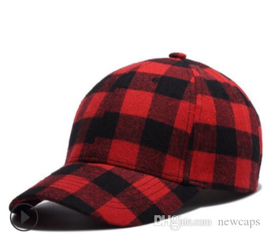 df99c04e8 Cotton Plaid Caps Brand Baseball Cap Snapback Caps Sports Blacke Red Blue  Green Hats Fitted Casual Fashion Hats Personality Free Shipping