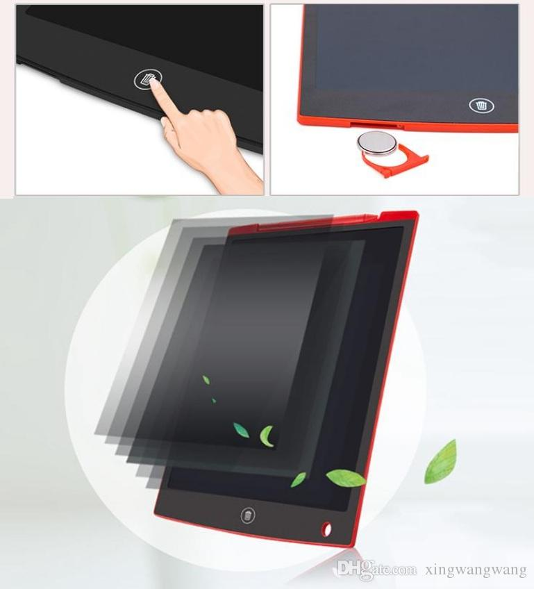 HOT 12 بوصة LCD الكتابة اللوحي لوحة اللمس مكتب مجلس الالكترونية المغناطيسي الثلاجة رسالة ستايلس الاطفال تاريخ الميلاد يوم عيد الميلاد هدايا أفضل شركة دي إتش إل