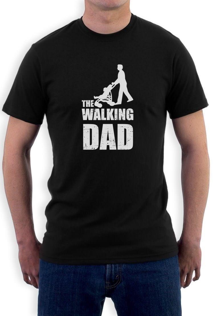 Regalo del día de padres: la camiseta de Walking Dad Cool Cool Dads Fathers Tee Top camiseta hip hop