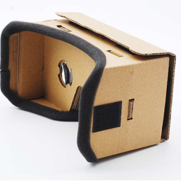 Wholesale DIY Light Castle Google g1 Cardboard Style Virtual Reality VR Glasses For 3.5 - 6.0 Inch Smartphone Glass for Iphone for Samsung