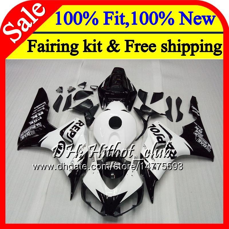 OEM Injection For HONDA CBR1000 RR Repsol black CBR 1000RR 06 07 52HT19 CBR 1000 RR 2006 2007 CBR1000RR 06 07 100% Fit Fairing Bodywork