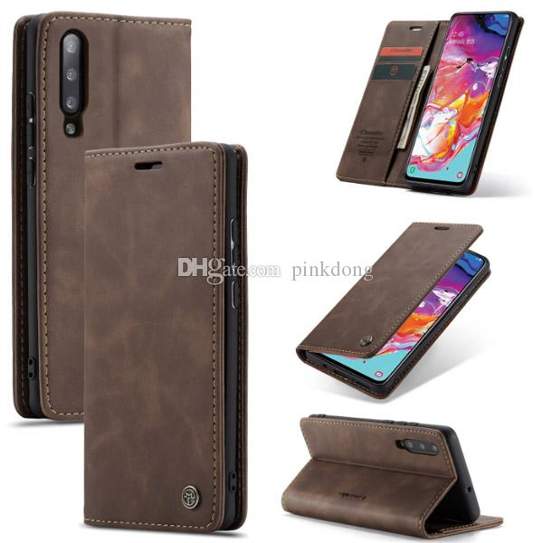 CaseMe Luxury Magnetic Flip Leather wallet case cover skin for Samsung Galaxy A70 A50 A40 A30 A20