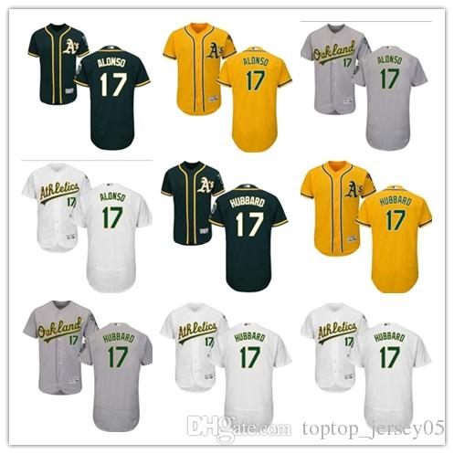 online retailer 1d480 032d0 2018 can Oakland Athletics Jerseys #17 Yonder Alonso Jerseys  men#WOMEN#YOUTH#Men's Baseball Jersey Majestic Stitched Professional  sportswear