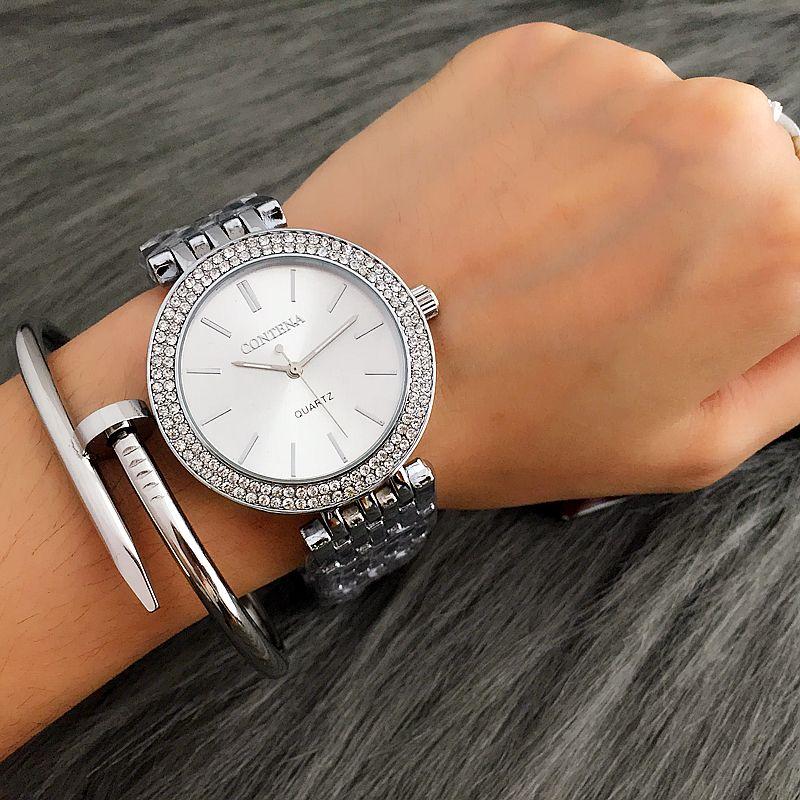 Contena Fashion Silver Watch Women Watches Diamond Bracelet Women S Watches Ladies Watch Clock Relogio Feminino Reloj Mujer