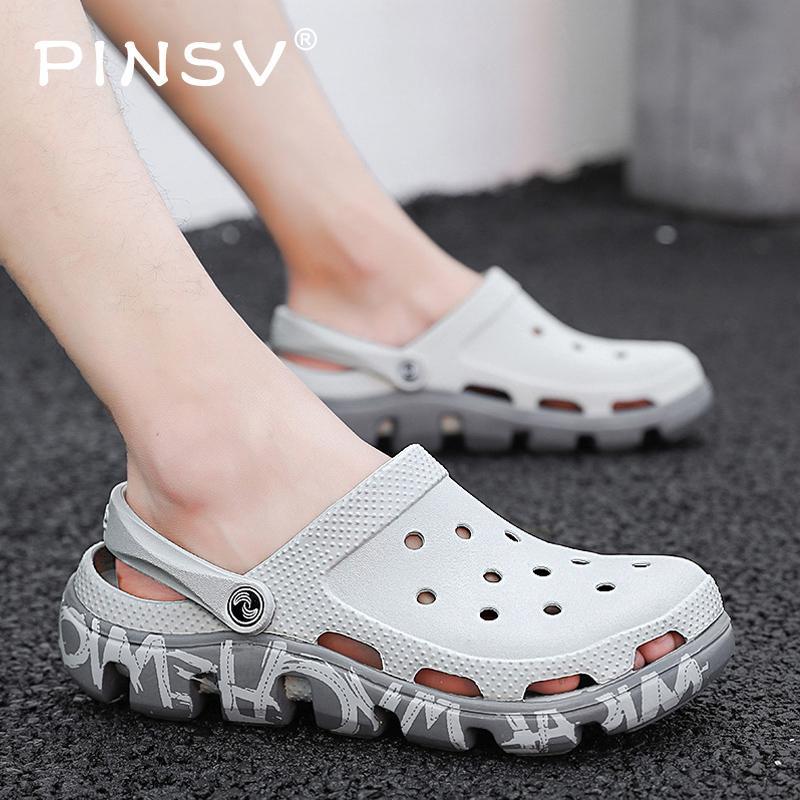 25eee001e8c28 Outdoor Men Clogs Crocse Mens Sandals Summer Beach Sandals Croc Shoes Erkek  Sandalet Sandale Homme Sandalias Homem Size 39-47