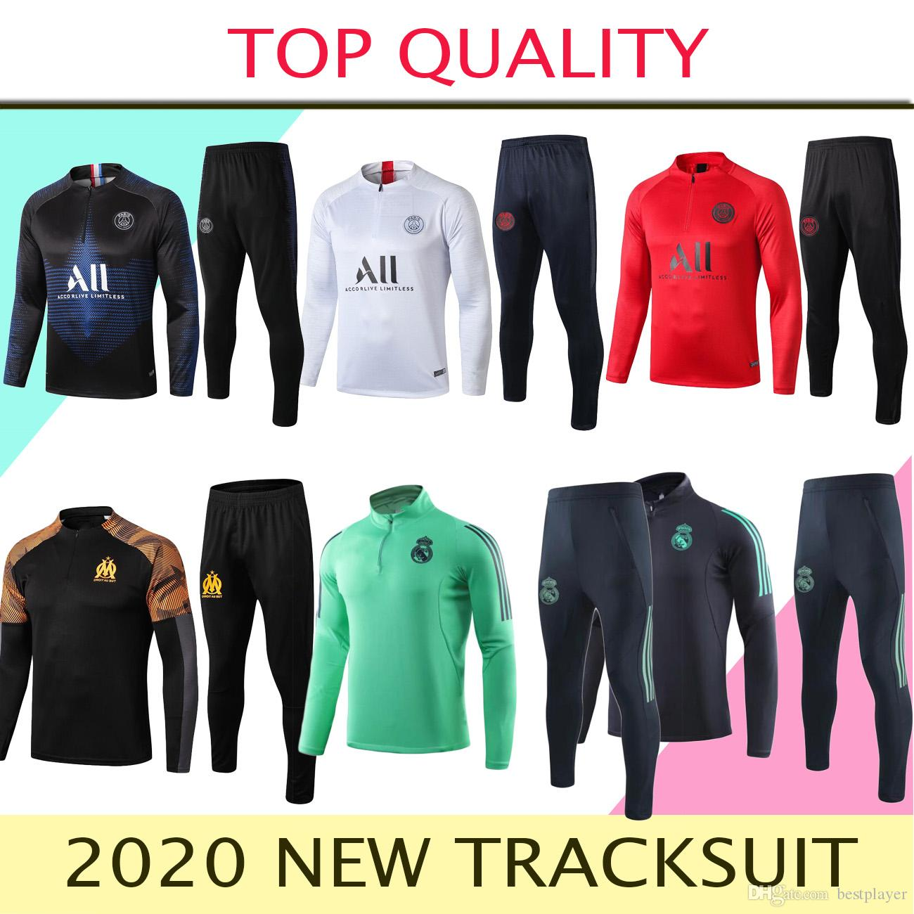 New 2019-2020 soccer Tracksuit 19/20 mens Ronaldo Marseille chandal tracksuit football training suit survetement