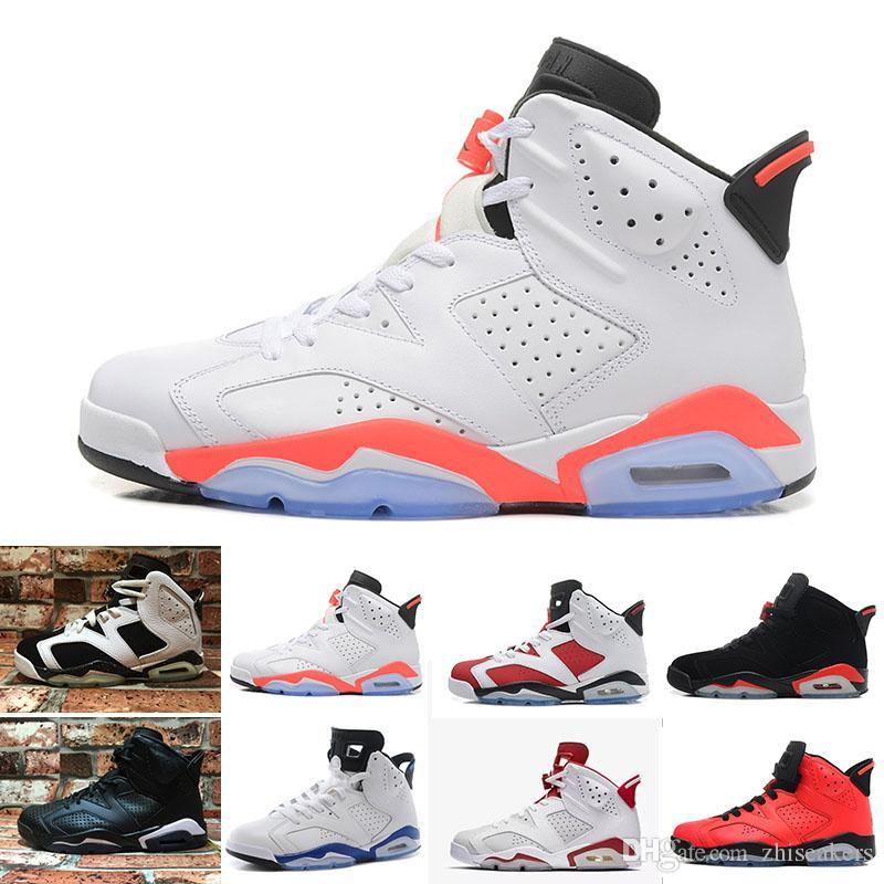 c9175c96997 New Bred Men 6 6s Basketball Shoes Tinker UNC Black Cat White ...