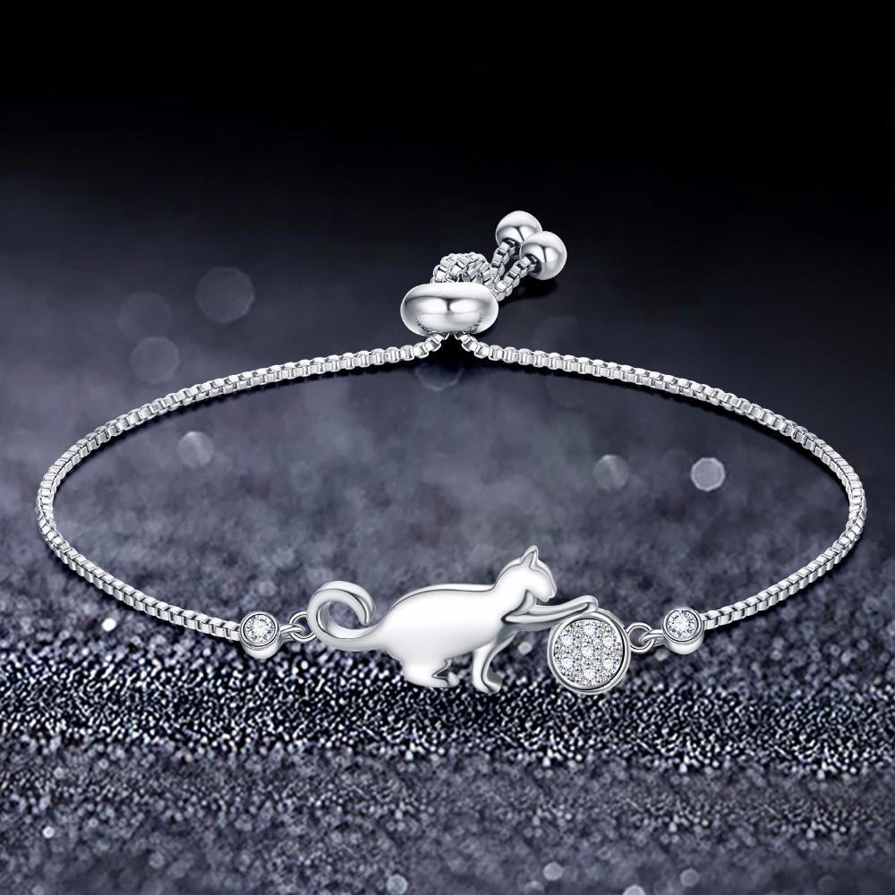 Kätzchen-Zirkon justierbares Korea-Armband für Frauenart und weiseschmucksachezusätze Hochzeits-Schmuck SL0062