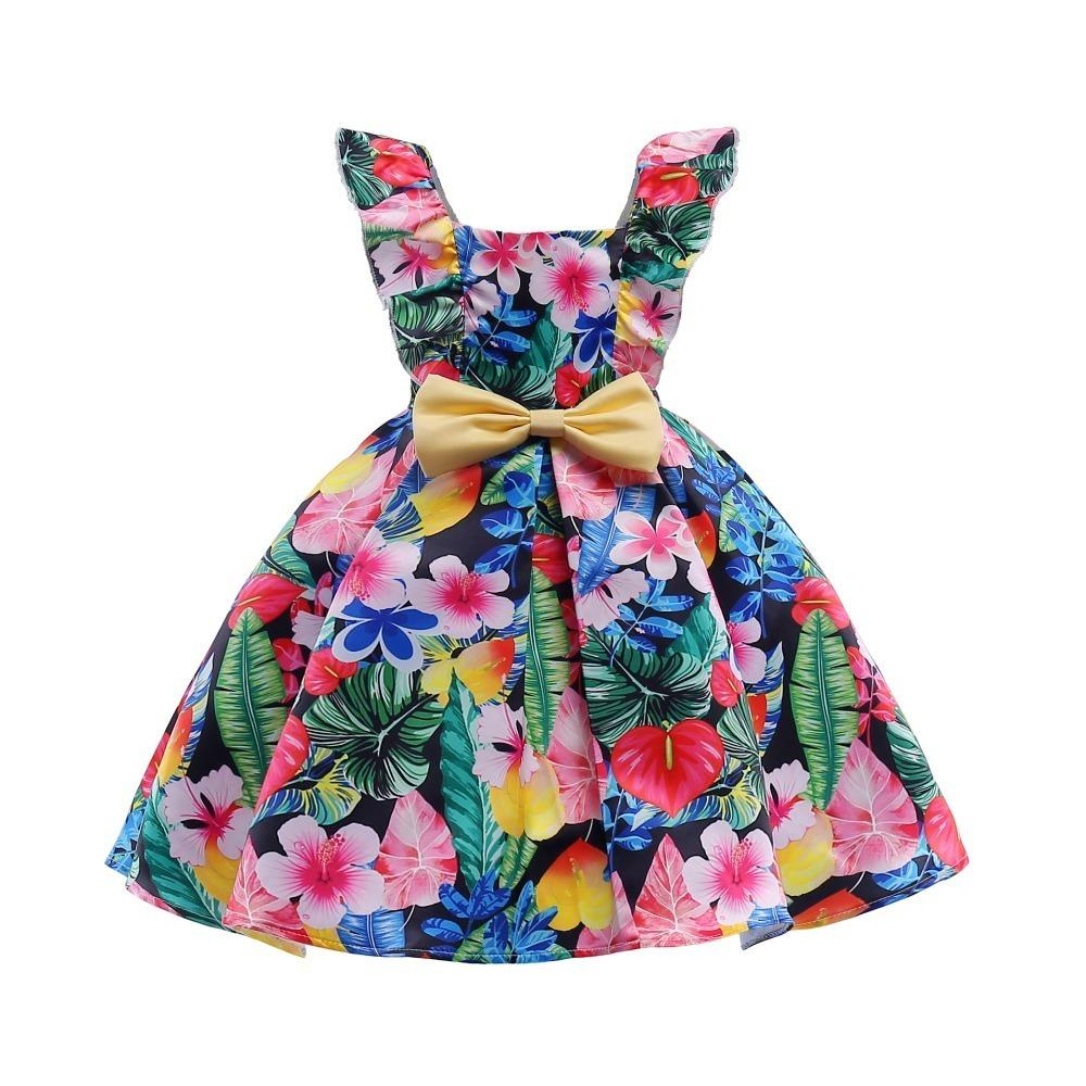 good quality new girls flower dress infant party dresses kids frocks for girl prom gowns summer children fancy girl wedding costume