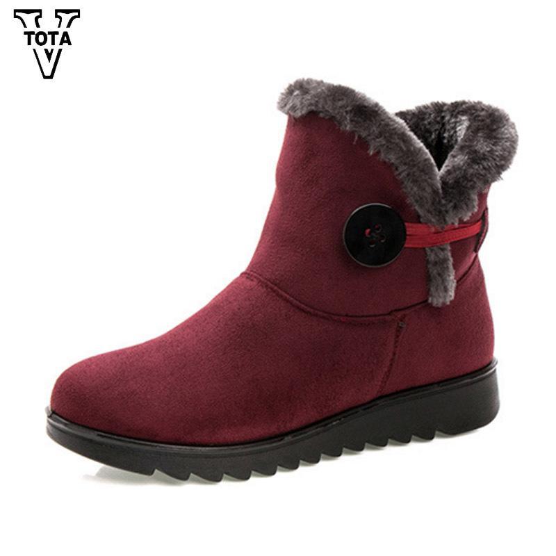 5d90a12d24 2019 VTOTA Brand Winter Boots Women Snow Boots Fur Comfortable Ankle Women  Boots Fashion Buckle Platform Short Booties Botas OH2
