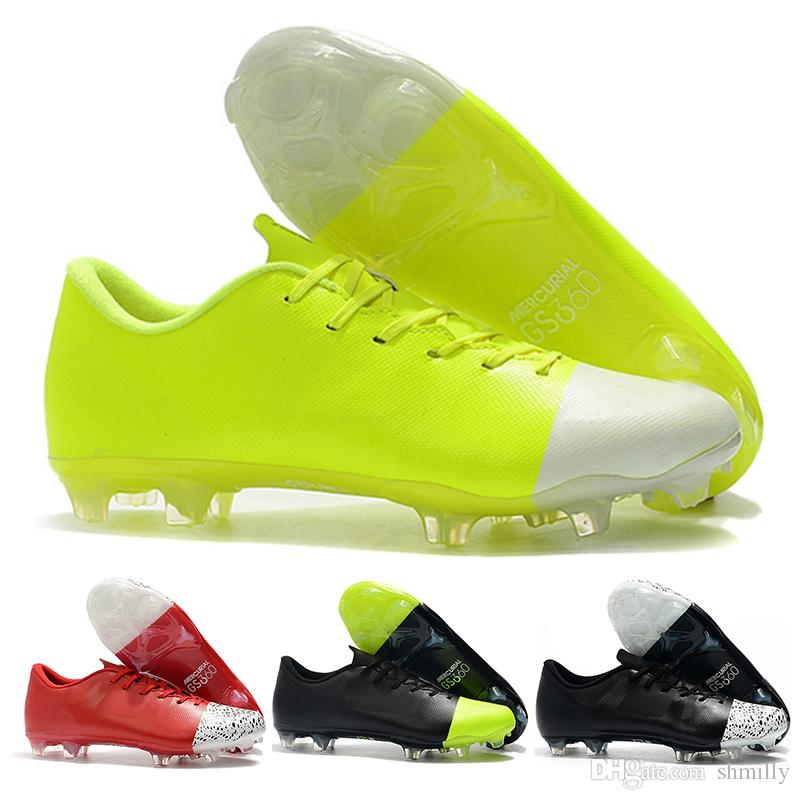 size 40 311fd 222b1 Mens High Ankle Football Boots Mercurial Superfly 360 GS FG Soccer Shoes  Original Superfly VI GS360 ACC Outdoor Soccer Cleats