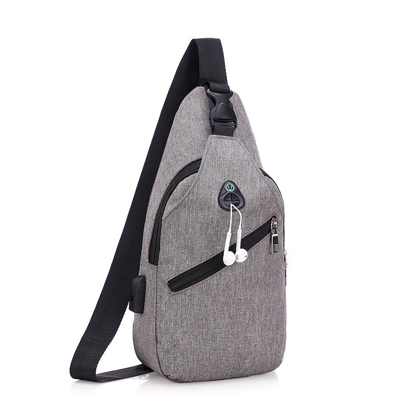 beae784fb10363 Usb Canvas Chest Bags Unisex Boston Bag Fashion Men'S Polyester Sling Bag  Chest Pack Crossbody With USB Charging Hiking Bags Backpacks With Wheels  From ...