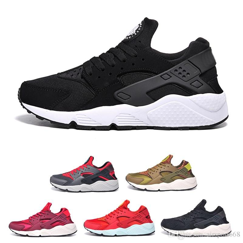 5d171ff85122 Newest Huarache Running Shoes 1.0 4.0 Mens Women Triple White Black Red  Grey Love Hate Pack Trainers Huaraches Sports Sneaker 36 45 Athletic Shoes  Shoes For ...