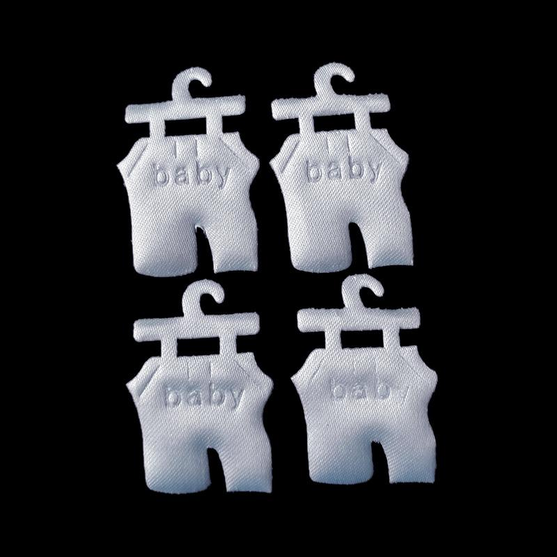 Satin feet clothes applique baby shower party decoration favors souvenirs girl boy candy box accessory baby scrapbook
