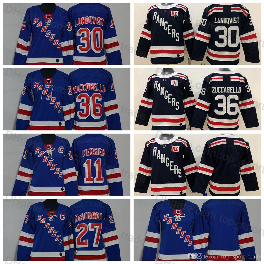watch 06e5d b9d97 2019 Youth Women New York Rangers Kids Henrik Lundqvist Mats Zuccarello  Ryan McDonagh Mark Messier Boys Lady Winter Classic Hockey Jerseys