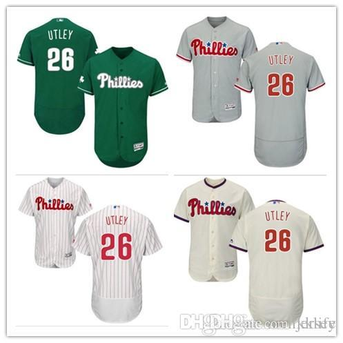 online retailer 68f55 b5a92 Philadelphia #26 Chase Utley Jersrys Phillies men#WOMEN#YOUTH#Men's  Baseball Jersey Majestic Stitched Professional sportswear