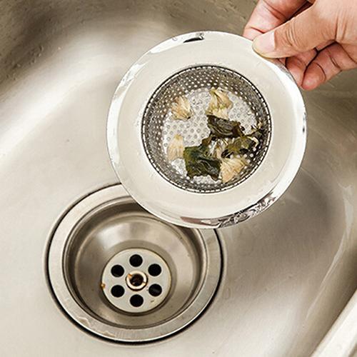 7cm Fregadero de malla de acero inoxidable Colador Trampa Baño Orificio de drenaje del cabello Filtro de canal de metal Filtro de lavabo de la bañera Filtro de artículos varios
