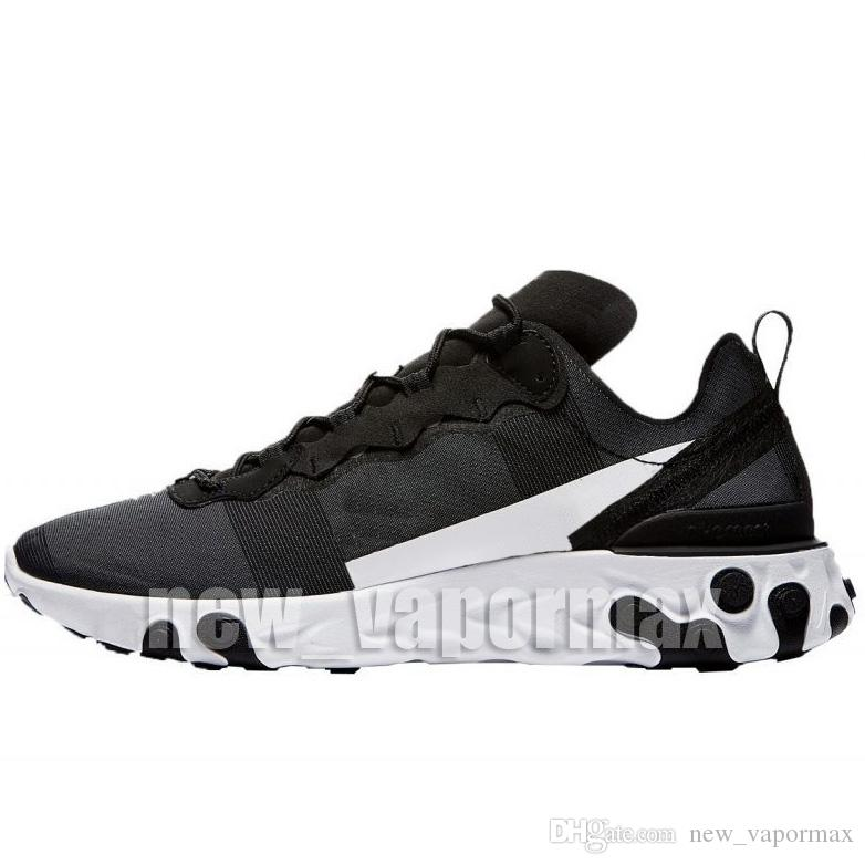 new style d8fe0 0c6c3 2019 React Element 55 Bowling Shoes Mens Womens Epic Reacts Anthracite Black  Total Orange Thunder Blue Sail Light Bone Sports Shoes 36 45 From  New vapormax, ...