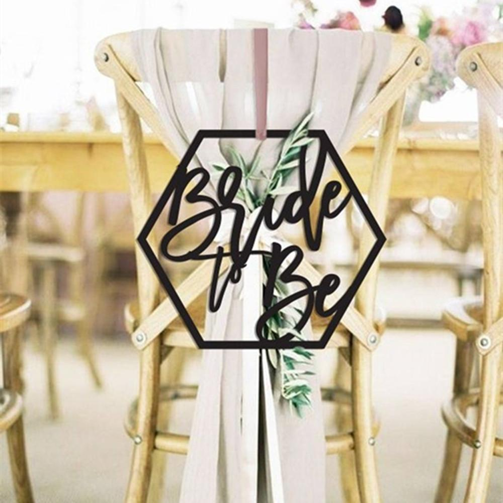 Bride To Be Wedding Engagement Chair Sign Wooden Chairs DIY Decoration for Sweet Wedding Unique Party Accessory Supplies