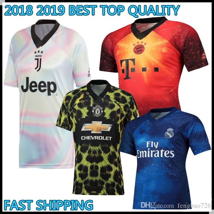 162a5a143 2019 2018 2019 EA Sports INSANE Bayern Munich Manchester United JUVENTUS  REAL MADRID 18 19 SOCCER JERSEYS Fourth Outstanding Football Shirt From  Fengbao726