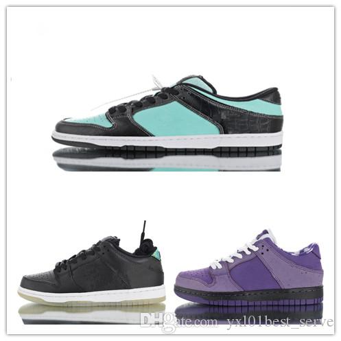 cozy fresh b5054 f2077 Compre 2019 Concepts X SB Dunk Low Purple Lobster Pro Motocicleta Casco  Diamond Supply Co. X Tiffany Zapatos Para Correr Hombres Mujeres Deportes  Zapatillas ...