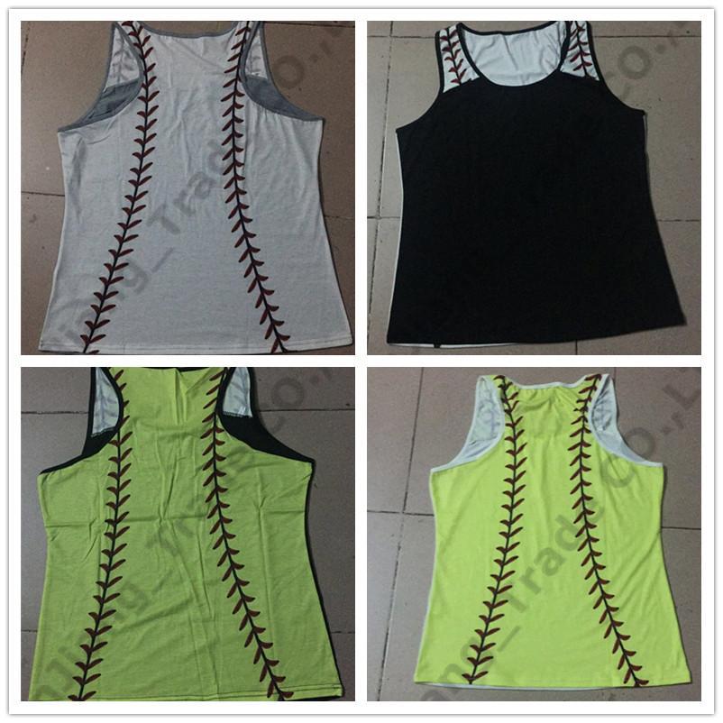 a2fd5fb53eba 2019 Women Baseball Tanks Top Summer Softball Printed Sleeveless Vest  Sports Tank Tshirts Beach Camis T Shirt Girl Vests S 3XL New A4905 From  Sweet_shops, ...