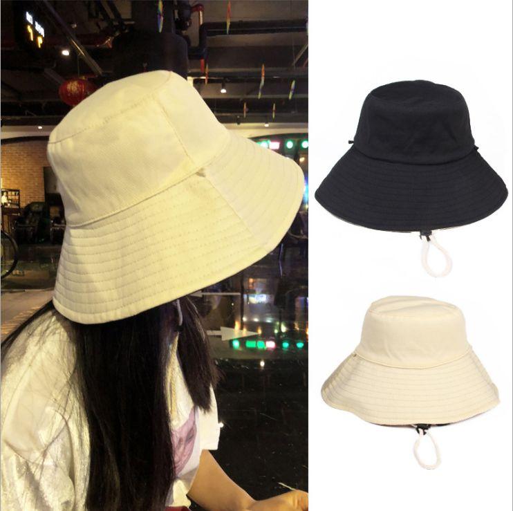 0ee870f66f825 Compre Sombrero De Pescador Para Mujer Sombrero De Sol De Primavera Y Verano  Sombrero De Tela De Color Liso De Doble Cara Sombrero Plegable Plegable A   2.06 ...