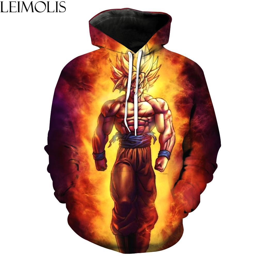 Compre LEIMOLIS 3d Impresión Saiyan Son Goku Divertido Sudaderas Con Capucha  Hombres Streetwear DropShip Casual Harajuku Sudaderas Hip Hop Con Capucha  ... 9daa1f2b6d1