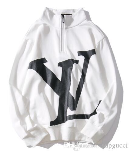 2019 2019 white new designer hoodies kanye west sweater women Tyga Style 2019 2019 white new designer hoodies kanye west sweater women sweatshirt sweater harajuku street hip hop gc letters printed hoodie clothing coat from