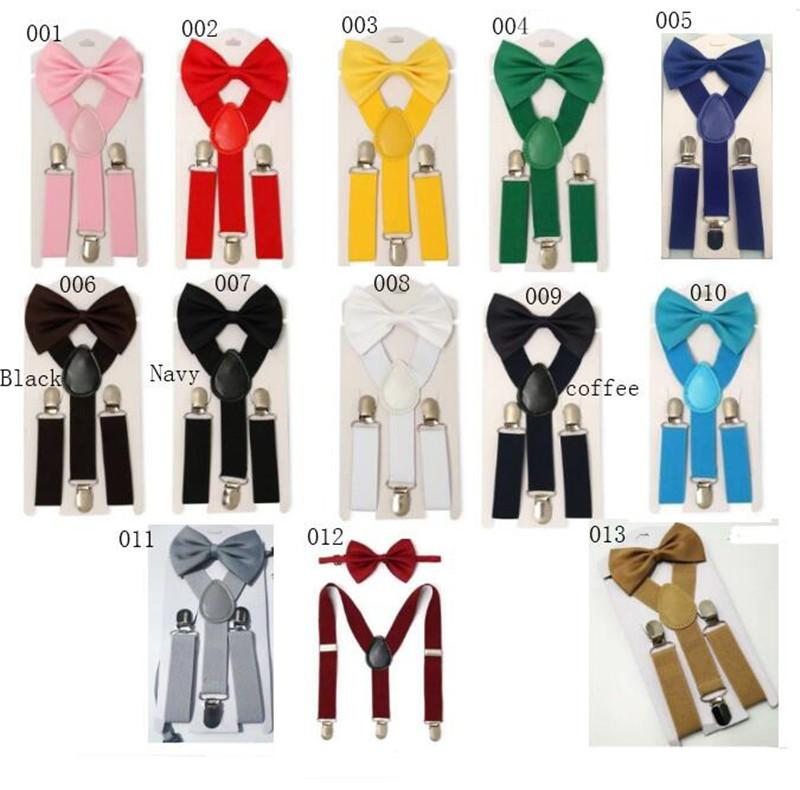 b25df101d Candy Color Suspenders   Bowtie Set for Kids And Kids - Adjustable ...