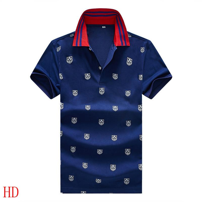 Plus 3XL Size Multi Embroidery Polo Shirts Man Fashion Design Ribbed Sleeves Split Hem Stretch Polos Top Male g6109