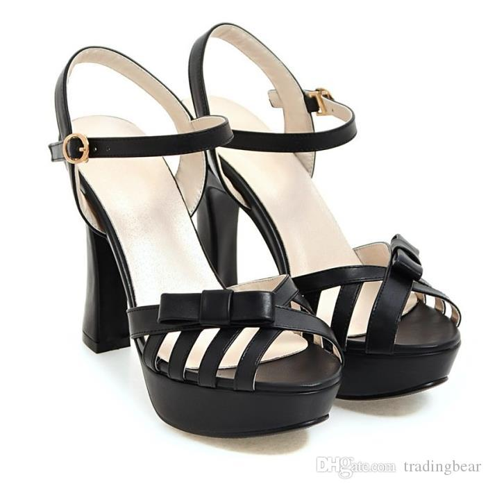 Plus size 32 33 to 40 41 42 43 women designer shoes high heels sexy bowtie hollow out pumps shoes pink white beige black