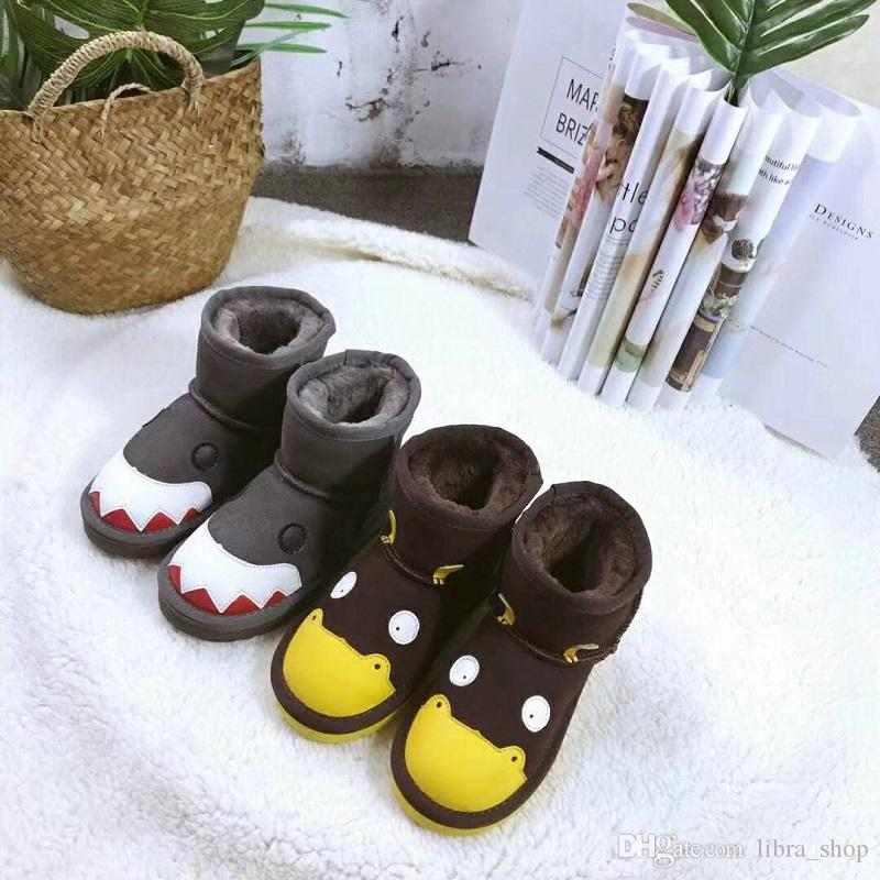 53726d6bf62a Girls Australia Style WGG Kids Snow Boots Cute Bow Back Waterproof Slip On  Children Winter Cow Leather Boots 3280 Brand Luxury Wgg Designer Toddler  Athletic ...