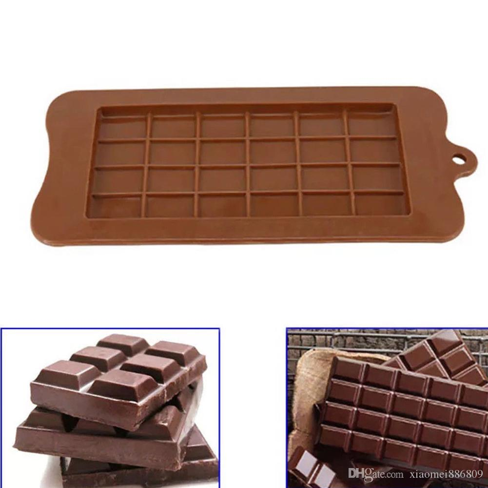 24 Grid Square Chocolate Mold silicone mold dessert block mold Bar Block Ice Silicone Cake Candy Sugar Bake Mould