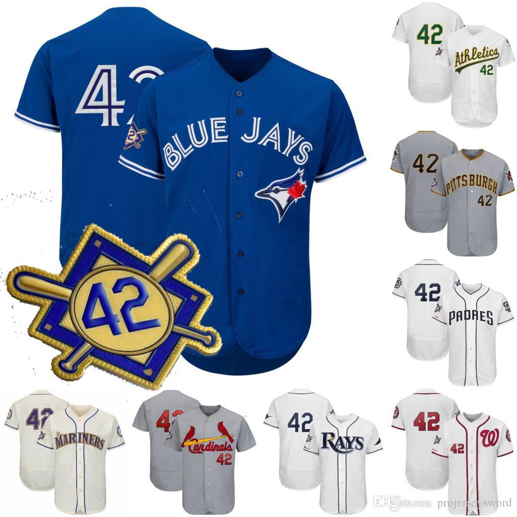 cbc5f9f48 2019 Mens 2019 Jackie Robinson Day Jersey Toronto Miami New York Washington  Los Angeles Arizona Chicago Houston Boston Baseball Jerseys S XXXL From ...