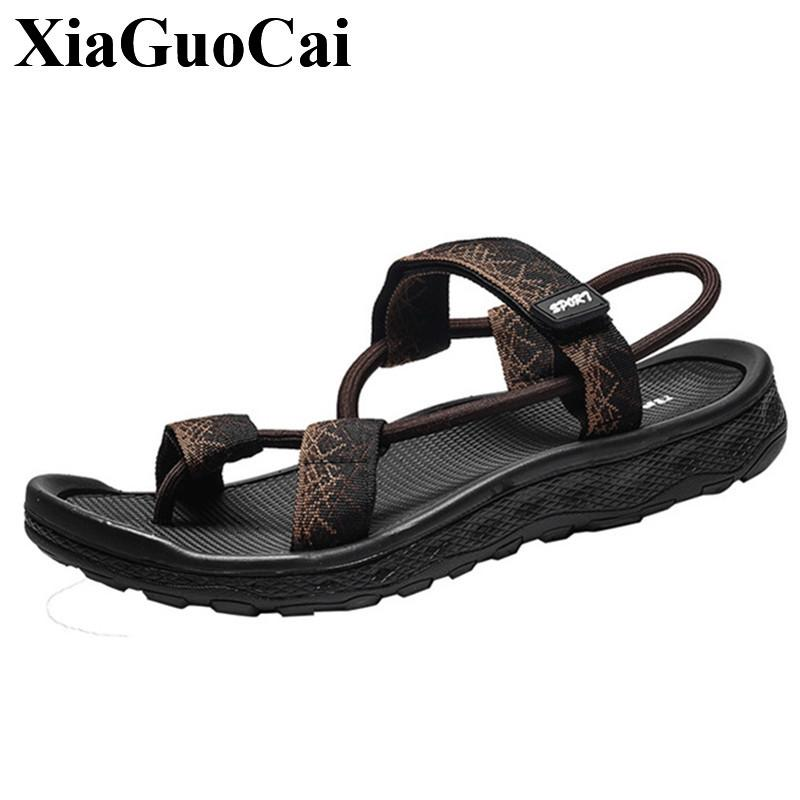 51a28e8fe7d33f New Sandals Men Summer Shoes Outdoor Slippers Breathable Flip Flop Outdoor  Male Casual Shoes Soft Anti Skid Design Beach Sandals Gladiator Sandals  Wedding ...