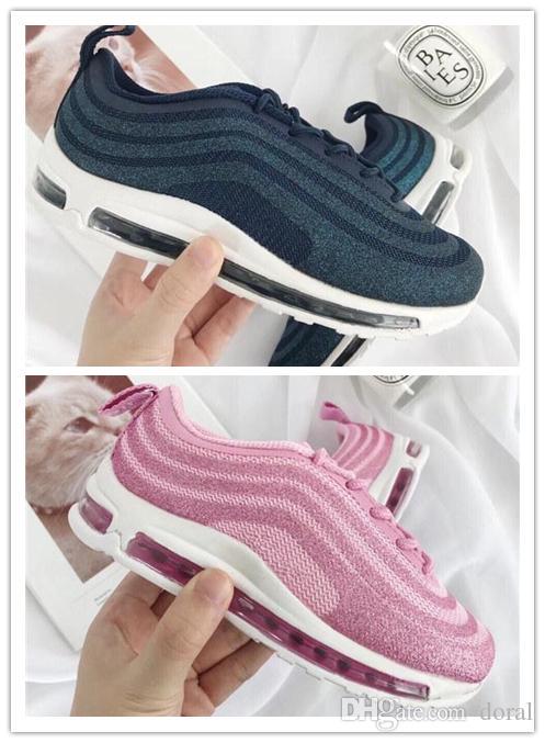 d0fafd4d73 Acheter Nike Air Max Airmax 97 Enfants 2019 Chaussures Enfants Chaussures  Décontractées Garçon Fille Jeunes Enfants 2018 Plus Tn 97 Trainer Cushion  Surface ...