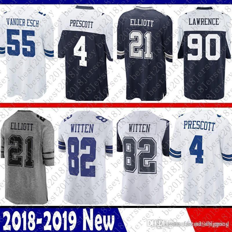 2019 Dallas 4 Dak Prescott 21 Ezekiel Elliott Cowboys Jersey 82 Jason Witte  22 Emmitt Smith 90 DeMarcus Lawrence 55 Vander Esch 50 Lee 11 Beasley From  ... 4cc438266