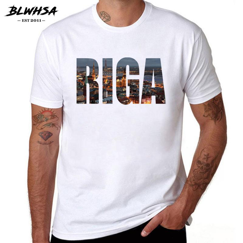 Blwhsa Riga City Prined T Shirt Men Casual Short Sleeve 100% Cotton Brand  Design T Shirts Latvia City Riga Men Clothes T Shirs T Shirst From  Xuthusstore 27813ce7f41