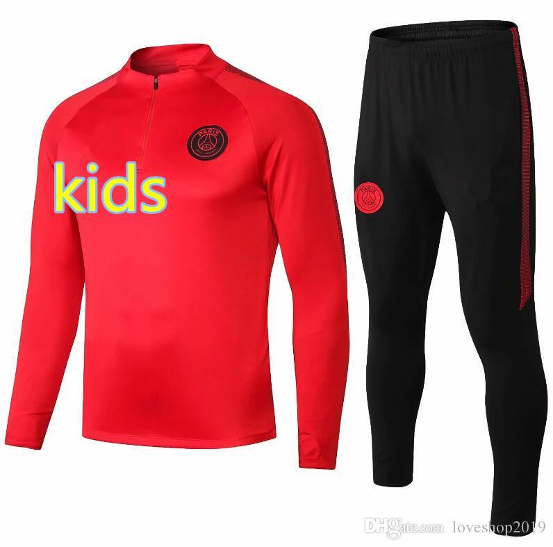 0d451530cb69f Acheter Survêtement PSG New Paris 2018 2019 KIDS RedTraining Training 18 19  MBAPPE Maillot De Foot Paris Noir Kit De Veste Sportswear De  28.23 Du ...