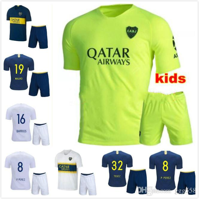 brand new d238b 033ab kids kit 2018 19 Boca Juniors soccer Jersey 2019 GAGO CARLITOS home away  3rd football shirt TEVEZ Boca Juniors camisetas de futbol