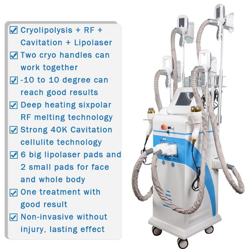 -10 to 10 Degree cryo machine body slimming fat freezing machine lipolaser slimming machine for reduce fat